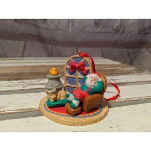 Vintage Christmas Ornament Resin Diorama Scene San
